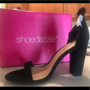 Black ankle strapped dress sandals
